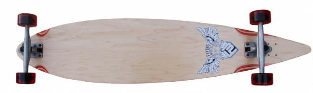 Flying Wheels Longboard Pintail Komplettboard 113 x 25 cm Cruiser Carver - Special Edition mit Koston Kugellagern