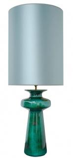 Casa Padrino Luxus Keramik Tischleuchte Grün / Türkis 45 x H. 117 cm - Luxus Qualität