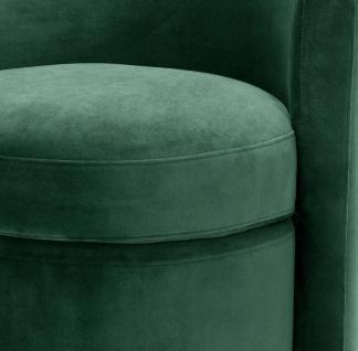 Casa Padrino Designer Sessel Dunkelgrün 61 x 57 x H. 64 cm - Runder Samt Sessel - Luxus Möbel - Vorschau 5