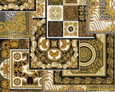Versace Designer Barock Vliestapete IV 37048-3 - Schwarz / Gold / Weiß - Design Tapete - Hochwertige Qualität