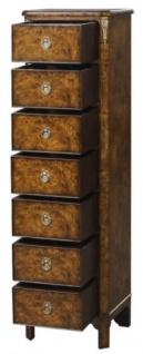 Casa Padrino Luxus Jugendstil Kommode mit 7 Schubladen Braun 35 x 30 x H. 127 cm - Luxus Qualität - Vorschau 2