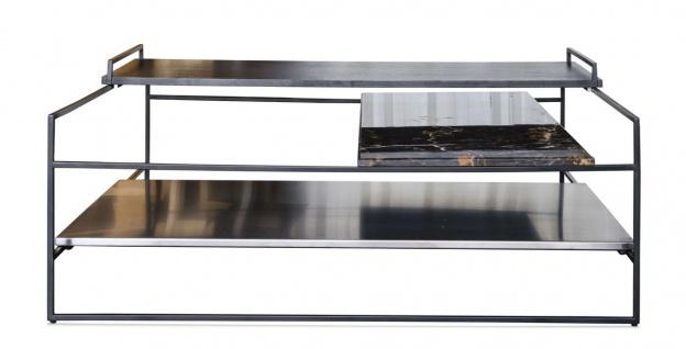 Casa Padrino Luxus Couchtisch Schwarz 100 x 100 x H. 39, 5 cm - Designer Wohnzimmertisch - Vorschau 2