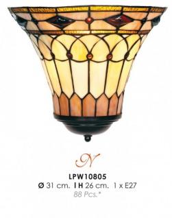 Tiffany Wandleuchte Durchmesser 31cm, Höhe 26cm LPW10805 Leuchte Lampe