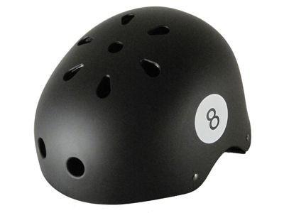 Krown Skateboard Helm Black 8 Ball - Bmx, Inliner, Longboard Helm - Schutzausrüstung