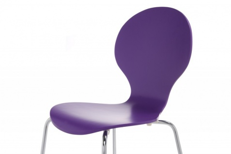 Casa Padrino Designer Stuhl Form Lila 8578 - Esszimmer Stuhl - Vorschau 3