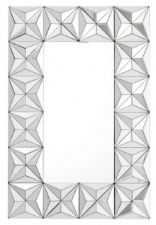 Casa Padrino Luxus Wand Spiegel Art Deco mit Spiegelrahmen 120 x 80 cm - Wandspiegel