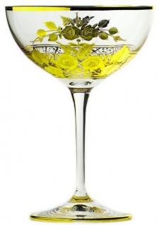 Casa Padrino Luxus Barock Champagnerglas 6er Set Gold Ø 11, 5 x H. 16 cm - Handgefertigte und handgravierte Champagnergläser - Hotel & Restaurant Accessoires - Luxus Qualität