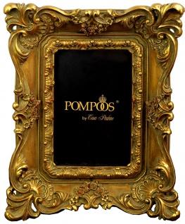 Pompöös by Casa Padrino Barock Bilderrahmen Gold mit prunkvollem Rahmen von Harald Glööckler 26 x 21 cm - Antik Stil Foto Rahmen
