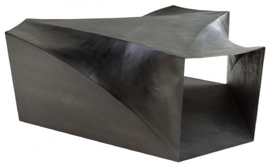 Casa Padrino Designer Stahl Couchtisch Dunkelgrau 107 x 120 x H. 41 cm - Wohnzimmertisch - Designer Wohnzimmer Möbel - Vorschau 4