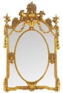 Casa Padrino Barock Wandspiegel Spiegel Gold 85 x H. 135 cm - Prunkvoller Antik Stil Spiegel - Möbel im Barockstil