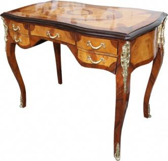 Casa Padrino Luxus Barock Schreibtisch Mahagoni Wurzelholz Furnier 100 x 80 x 58 cm- Sekretär Luxus Möbel - Vorschau 2