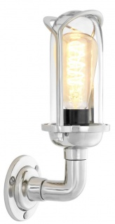 Casa Padrino Luxus Wandleuchte Silber 13 x 14 x H. 31 cm - Designer Wandlampe