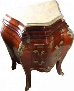 Casa Padrino Barock Kommode Mahagoni Braun mit cremefarbener Marmorplatte - Kommode - Vorschau 2