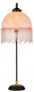 Casa Padrino Barock Tischleuchte / Tischlampe Mehrfarbig Ø 20 x H. 54 cm - Barockstil Möbel
