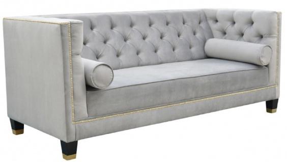 Casa Padrino Luxus Chesterfield Wohnzimmer Sofa 200 x 84 x H. 83 cm - Verschiedene Farben - Luxus Möbel - Vorschau 2