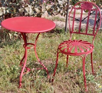 Casa Padrino Jugendstil Gartenmöbel Set - verschiedene Farben - Gartentisch & Gartenstuhl im Jugendstil