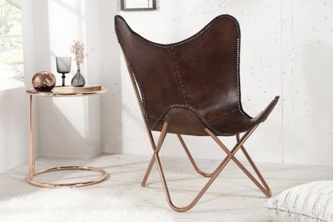 Casa Padrino Echleder Designer Sessel Braun - Relax Leder Stuhl - Vorschau 2