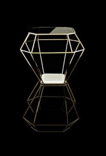 Casa Padrino Luxus Art Deco Designer Beistelltisch Gold mit weißer Marmorplatte - Luxus Beistelltisch Hotel Möbel - Vorschau 2