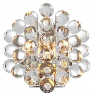 Casa Padrino Luxus Wandleuchte Silber 24, 5 x 15 x H. 24 cm - Luxus Qualität