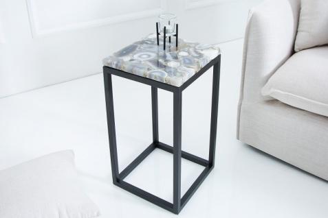 Casa Padrino Designer Beistelltisch mit Onyx 30 x 30 x H.50cm Mehrfarbig - Unikat - Vorschau 2