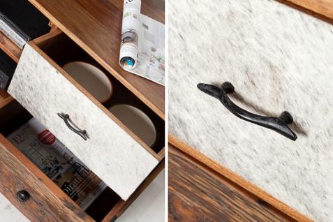 Casa Padrino Luxus Kufell Fernsehschrank Mehrfarbig B.150 x H.60 x T.40 - Sideboard - Kommode - Handgefertigt Massivholz! - Vorschau 2