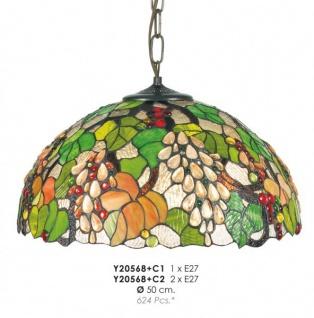 Casa Padrino Tiffany Hängeleuchte Durchmesser 50cm Y20568 + C1/C2 Leuchte Lampe