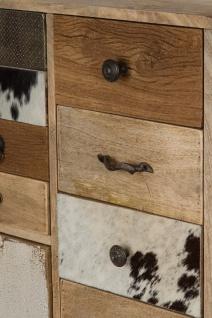 Casa Padrino Landhausstil Kommode Naturfarben / Mehrfarbig 55 x 30 x H. 110 cm - Landhausstil Schrank mit Tür und 11 Schubladen - Vorschau 4