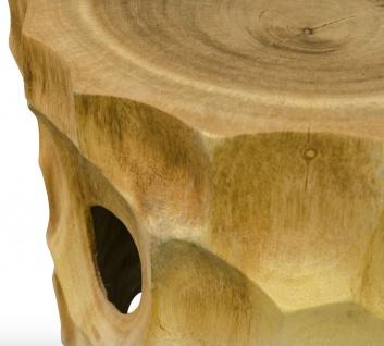 Casa Padrino Luxus Wohnzimmer Beistelltisch / Hocker Naturfarben - Luxus Qualität - Vorschau 3