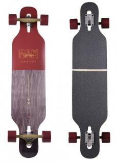 RAM Drop Through Longboard Komplettboard Ciemah Rosewood - Special Edition mit Koston Kugellagern