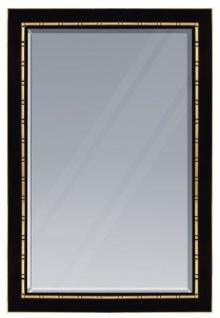 Casa Padrino Luxus Wandspiegel Schwarz / Gold 81 x H. 106 cm - Luxus Kollektion