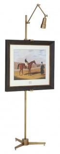 Casa Padrino Staffelei mit Licht Antik Messingfarben 59 x 51 x H. 200 cm - Luxus Möbel
