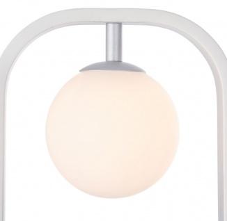 Casa Padrino Luxus Wandleuchte Weiß / Silber 17, 8 x 11 x H. 25 cm - Wohnzimmer Wandlampe - Vorschau 3