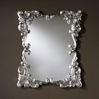 Casa Padrino Barock Wandspiegel Antik Stil Silber 92 x 110 cm - Barocker Spiegel