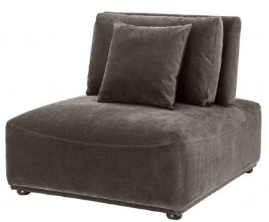 Casa Padrino Luxus Sessel Grau / Schwarz 93 x 109 x H. 83 cm - Wohnzimmer Sessel mit Rückenlehne und 2 Kissen - Wohnzimmer Möbel