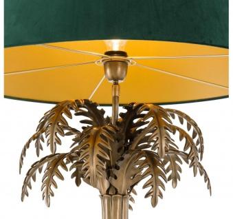 Casa Padrino Luxus Tischleuchte Vintage Messingfarben / Grün Ø 65, 5 x H. 114, 5 cm - Wohnzimmerlampe im Palmen Design - Vorschau 4