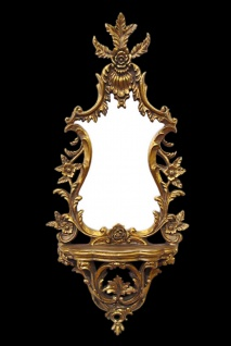 Casa Padrino Barock Wand Spiegel Konsole Gold B 48 x H 106 cm - Barock Spiegel Edel & Prunkvoll