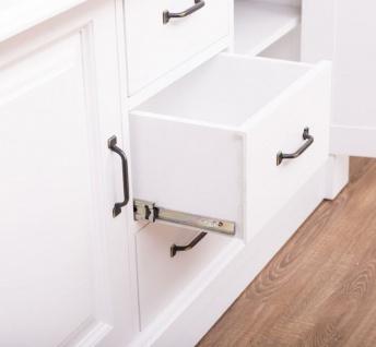 Casa Padrino Landhausstil Badezimmer Set Weiß / Naturfarben - 1 Doppelwaschtisch & 1 Wandspiegel - Massivholz Badezimmermöbel im Landhausstil - Vorschau 3