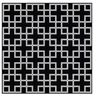 Wunderschöner Luxus Teppich aus 100% Neuseeland-Wolle mit Mäander Muster, Schwarz / Weiss, Samtweich 300 x 300 cm - Hochwertige Qualität