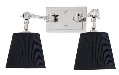Casa Padrino Luxus 2er Wandleuchte Schwarz / Nickel Finish - Leuchte - Luxury Collection - Vorschau 2