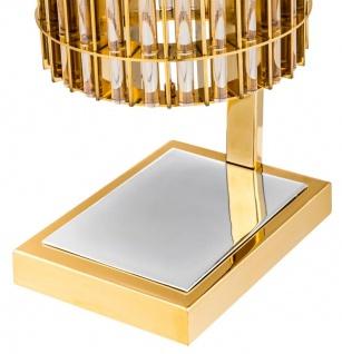 Casa Padrino Luxus Tischleuchte Gold 23 x 16, 5 x H. 66 cm - Limited Edition - Vorschau 4