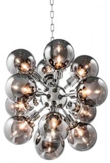 Casa Padrino Luxus Designer Kronleuchter mit Rauchglas 73 x H. 60 cm - Limited Edition
