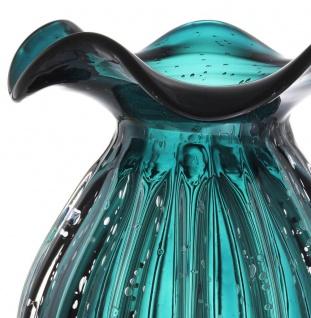 Casa Padrino Glas Vase / Blumenvase Grün Ø 23 x H. 27 cm - Luxus Wohnzimmer Deko - Vorschau 4