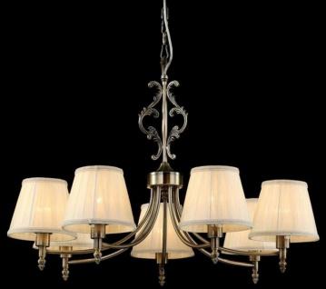 Casa Padrino Barock Decken Kronleuchter Bronze 75 x H 53 cm Antik Stil - Möbel Lüster Leuchter Hängeleuchte Hängelampe