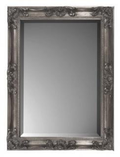 Casa Padrino Barock Wandspiegel Silber H 62 cm B 82 cm - Edel & Prunkvoll - Spiegel Silberfarben