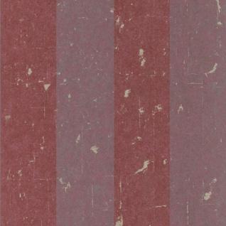 Casa Padrino Barock Vliestapete Rot 10, 05 x 0, 53 m - Tapete mit Streifen - Deko Accessoires