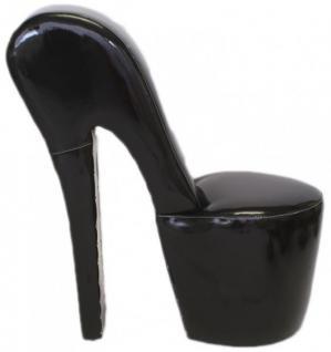 Casa Padrino High Heel Sessel Schwarz Lack Luxus Design - Designer Sessel - Club Möbel - Schuh Stuhl Sessel