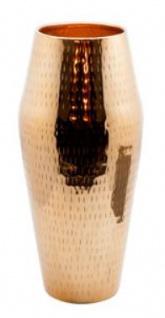Casa Padrino Luxus Aluminium Vase Kupferfarben Ø 16 x H. 32 cm - Designer Deko Blumenvase