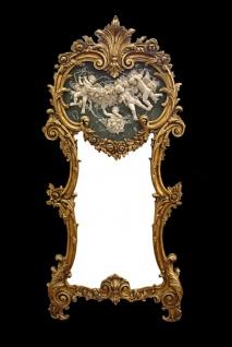 Casa Padrino Rokoko Wandspiegel Gold B 71 x H 153 cm - Barock Spiegel Edel & Prunkvoll