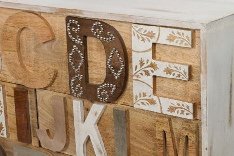 Casa Padrino Landhausstil Shabby Chic Kommode mit 12 Schubladen Antik Weiß / Mehrfarbig 115 x 40 x H. 90 cm - Landhausstil Möbel - Vorschau 5