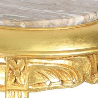 Casa Padrino Barock Beistelltisch mit cremefarbener Marmorplatte Rund Gold 50 x 35 cm Antik Stil - Telefon Blumen Tisch - Vorschau 3